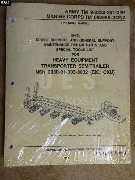 M1000 Heavy Equipment Transporter Semitrailer Technical