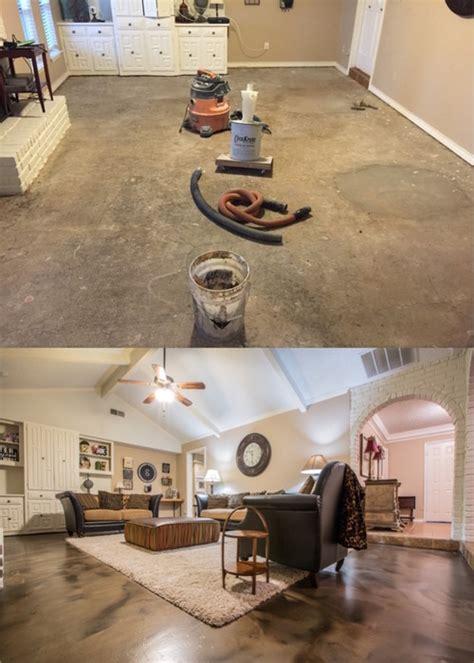 metallic epoxy flooring in living room