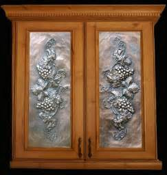 metal panels from artful inserts the cabinet door panels