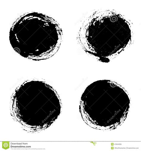 grunge design elements vector set of vector round grunge frames hand drawn design