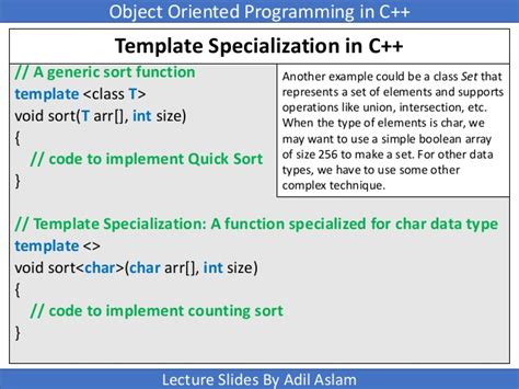 template function specialization templates in c