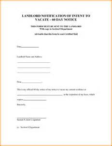 Notice To Vacate Template by Doc 585628 Notice To Quit Template Notice To Quit