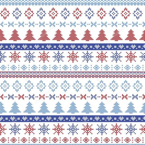 blue nordic pattern dark and light blue and red christmas nordic pattern with