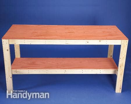 how to build a workshop bench how to build a workbench super simple 50 bench the family handyman