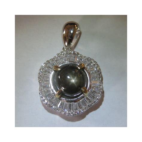 Liontin Pendant Batu Pancawarna Banten 40 X 30 X 8 Mm 2 Liontin Silver 925 Model Bunga Black Sapphire
