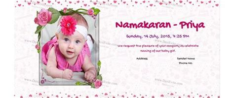 hindu baby naming ceremony invitation cards create and a indian naming ceremony namakaran