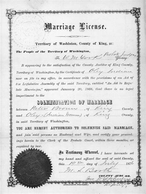 King County Marriage Records Marriage Licenses King County