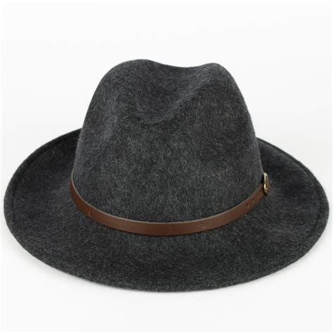 Handmade Hats For - 100 wool fedora hat with faux leather belt handmade in