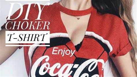 How To Make Tshirt diy choker v neck t shirt wiktoriaschannel