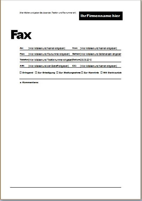 Word Vorlage Kurzmitteilung Word Faxvorlagen Zum Herunterladen