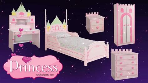 princess castle theme bed bedroom furniture for