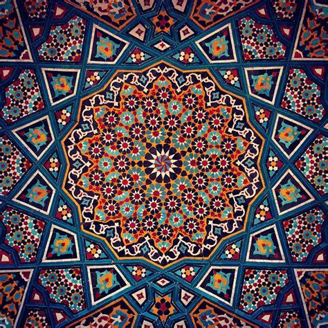 Art Of Islamic Pattern London | iranian tile arts qom iran islamic designs pinterest