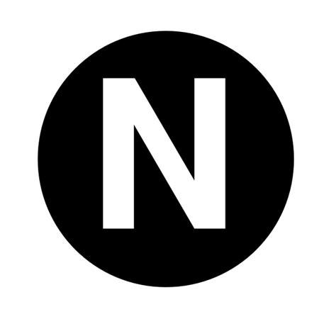 N 8 Black white letter n clip at clker vector clip