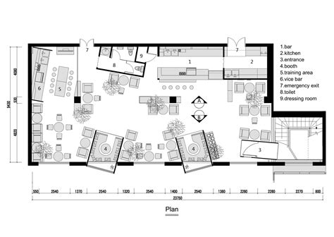 Cafe Floor Plan by Gallery Of Kale Caf 233 Yamo Design 12