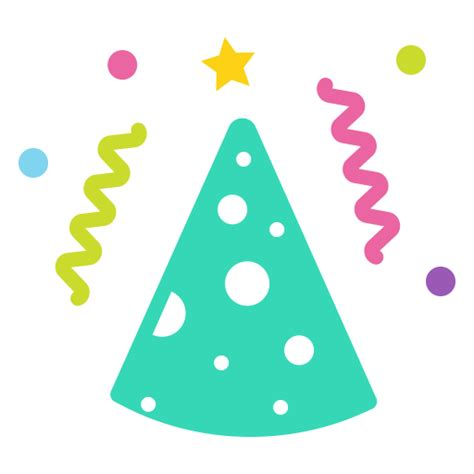 cap cone  year merry celebrate birthday party icon