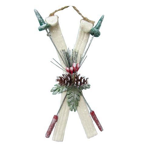 donner blitzen incorporated ski ornament white
