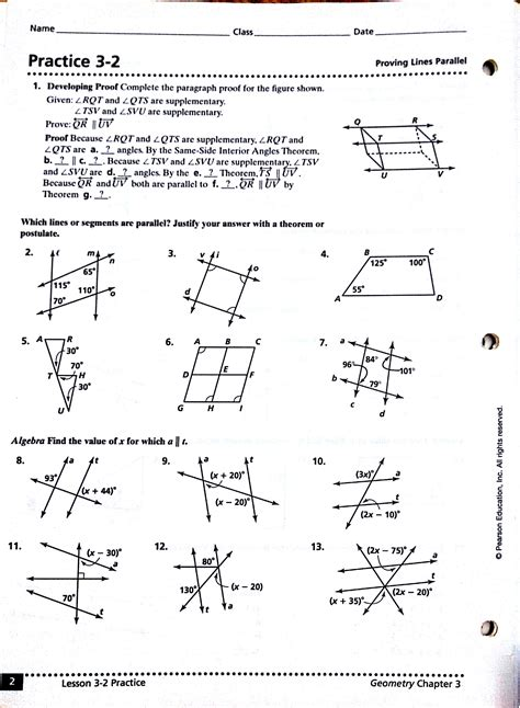 printable math worksheets angles in transversal answers parallel and transversal worksheet worksheets for all