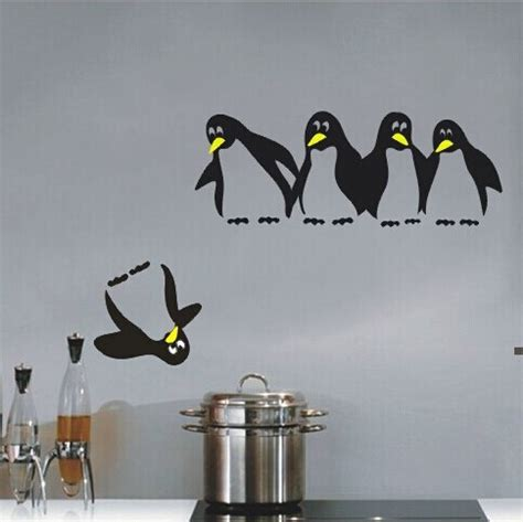 penguin home decor free shipping save penguin fridge kitchen toliet wall