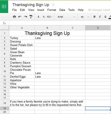Potluck Food List Template Search Results For Potluck Thanksgiving Sign Up Template