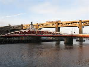 tyne swing bridge tyne swing bridge and high level bridge 169 g laird cc by sa