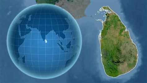 sri lanka satellite map sri lanka map stock footage