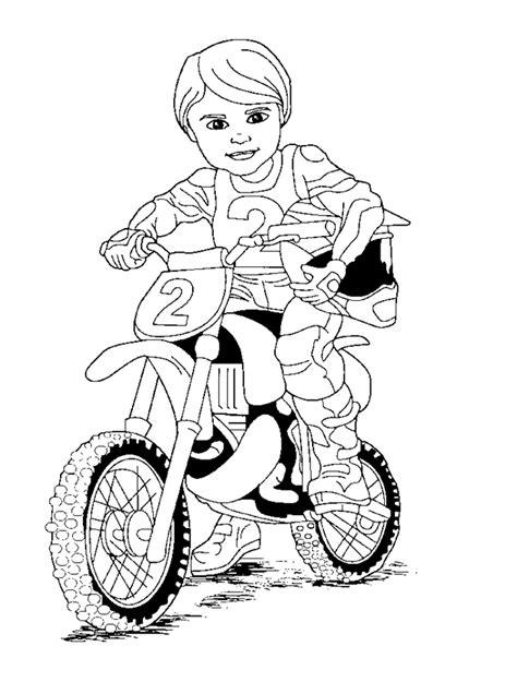 דפי צביעה לילדים 🖍️ שאוהבים מוטוקרוס!!... - Motocross