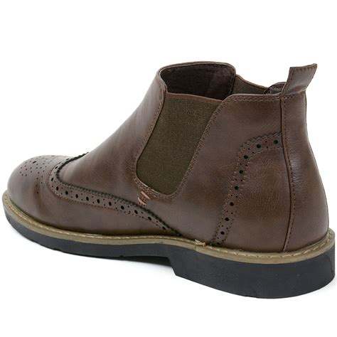 mens wing boots alpineswiss bulle mens ankle boots chelsea brogue