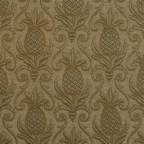pineapple upholstery fabric green pineapple jacquard woven upholstery grade fabric by
