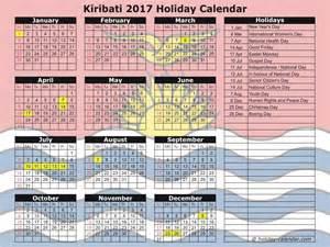 Kiribati Calendã 2018 Kiribati 2017 2018 Calendar