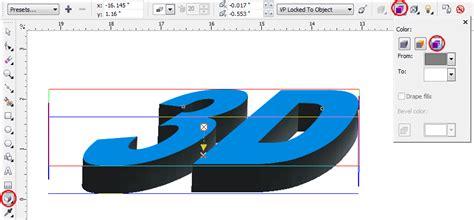 membuat gambar 3d di coreldraw x4 cara membuat tulisan 3d keren di coreldraw x4 kumpulan