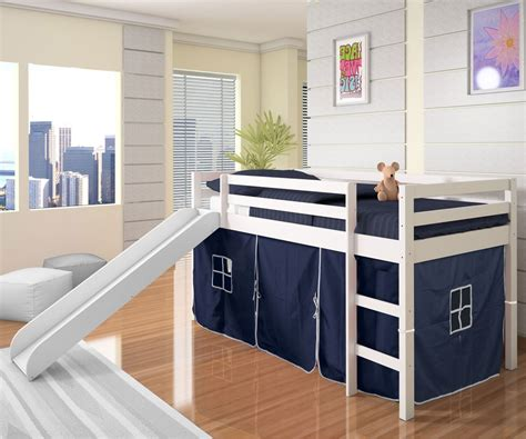 boys loft beds low loft bed with blue tent slide white bedroom furniture beds