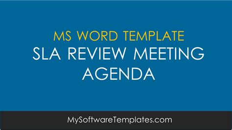 sla review meeting agenda template