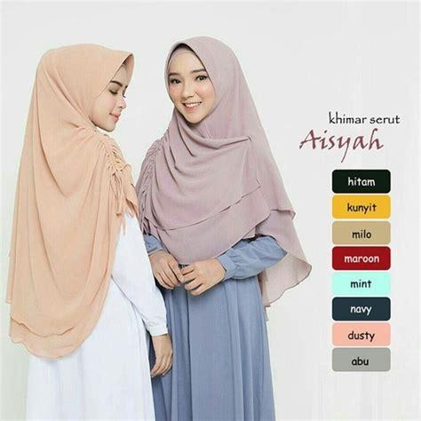 Jilbab Syari Ceruti Terbaru jual syar i aisyah serut ceruti jilbab instan