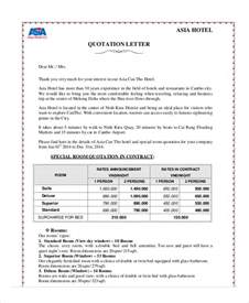 Office Rent Quotation Letter Quotation Letter Sle 10 Exles In Word Pdf