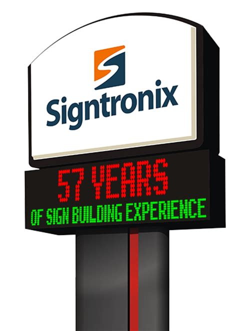 Business Signs Outdoor Lighted Signtronix Custom Business Signs And Led Sign Company