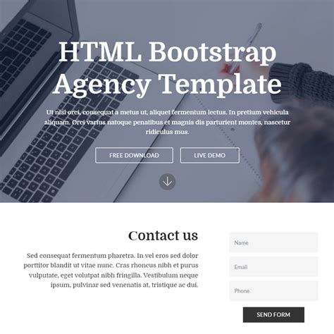 Free Bootstrap Template 2018 Agency Template