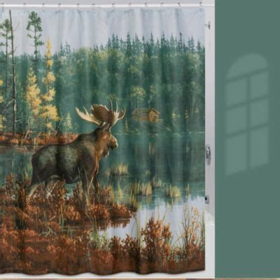 moose shower curtains buy shower curtain moose from bed bath beyond