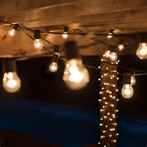 Clear Patio Lights Patio Lights Commercial Clear Patio String Lights 24 A15 E26 Bulbs Black Wire