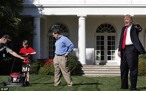praises boy who volunteered to cut white house lawn