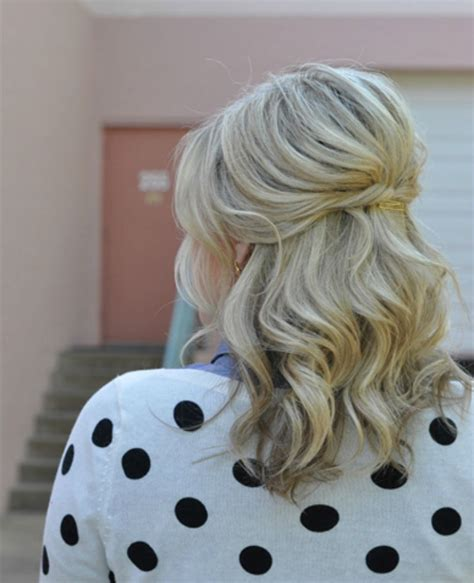 wedding hairstyles half up half down for short hair 25 gorgeous half up half down hairstyles small things