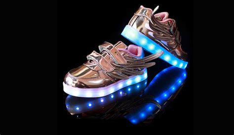 Wings New Led Shoes Silver Kecil 38 unisex led wings light up shoes gold size