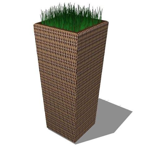 Wicker Planter wicker planters 3d model formfonts 3d models textures