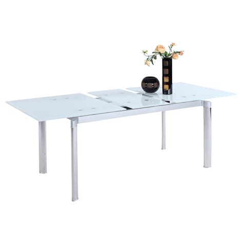 tara pop up extension dining table starphire dcg stores
