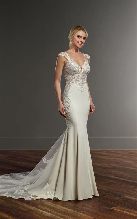 Wedding Gowns by Wedding Dresses Crepe Wedding Dress With Side Cutouts