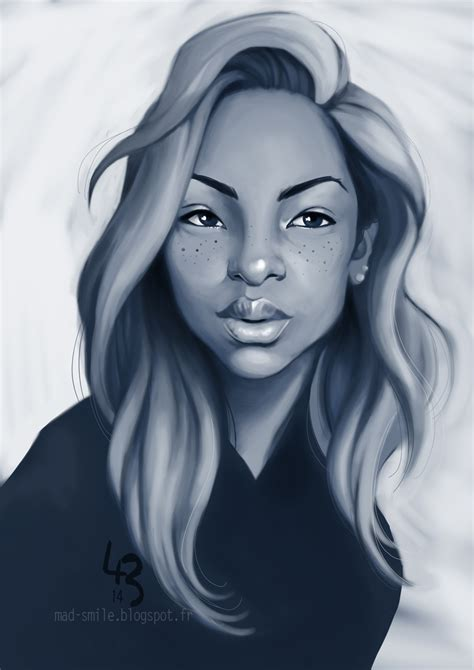 black woman portrait by florin chis on deviantart random black girl portrait by mad smile on deviantart