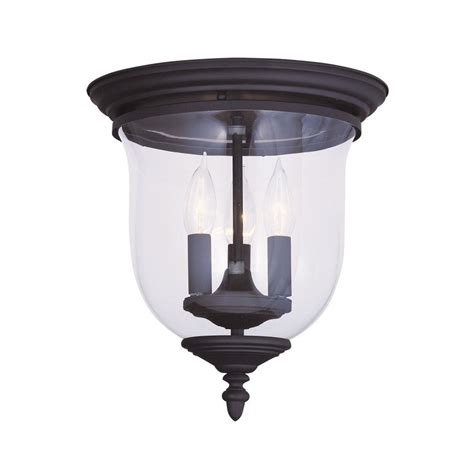 shop livex lighting legacy 11 5 in w black flush mount