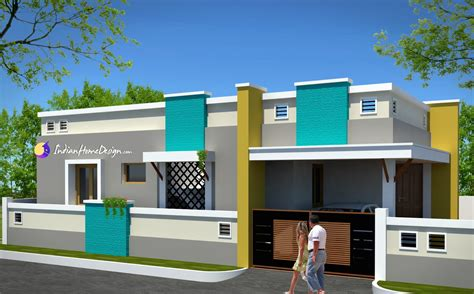 contemporary low cost 800 sqft 2 bhk tamil nadu style home