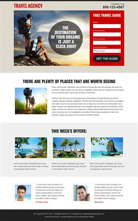 landing page templates for blogger stunning landing pages to promote your travel agency business