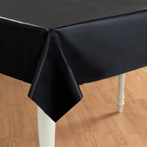 plastic table cover black plastic table cover rectangle