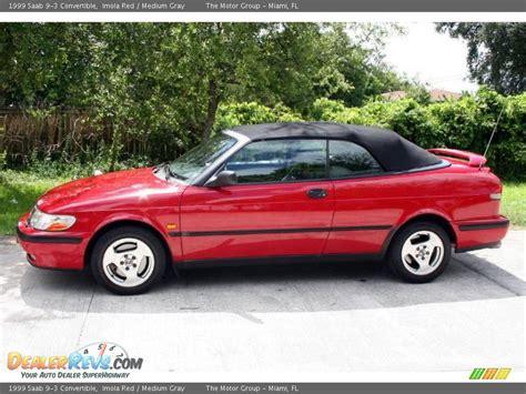 saab convertible red 1999 saab 9 3 convertible imola red medium gray photo 2